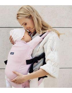Nosidełko ergonomiczne Embrace Melange pink z workiem