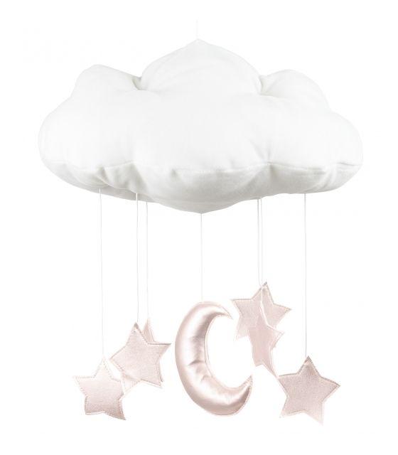 Chmurka dekoracyjna biała