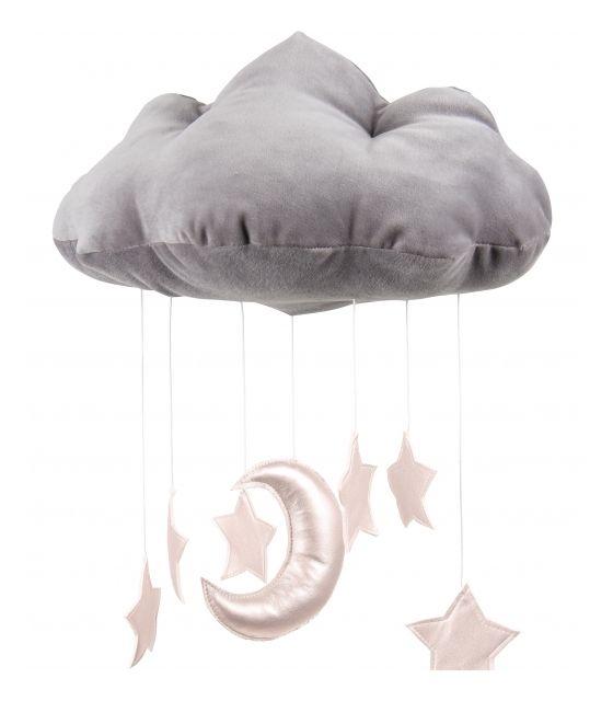 Chmurka dekoracyjna szara