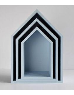 Półki domki - niebieskie trio