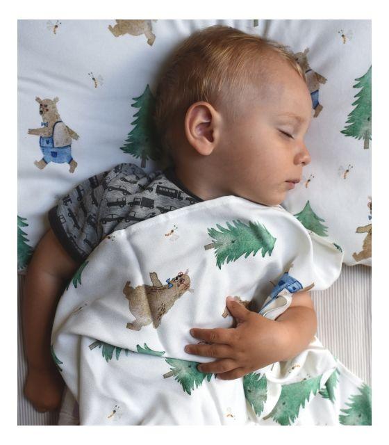 Otulacz bambusowy niedźwiadki - w łóżeczku - Cuddle Dreams