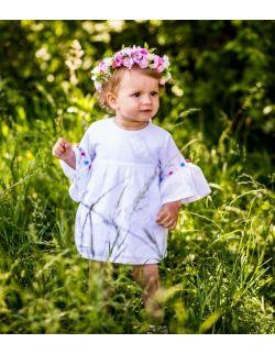 Sukienka bawełniana Boho Pompom