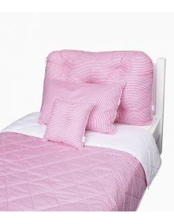 Poduszka na łóżko w różowe paski