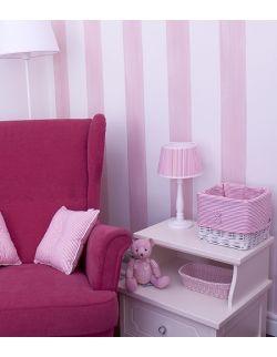 Lampka nocna w różowe paski