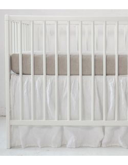 lniane prześcieradło do łóżeczka 140 x 70 cm
