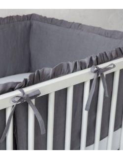 lniany ochraniacz do łóżeczka 120 x 60cm