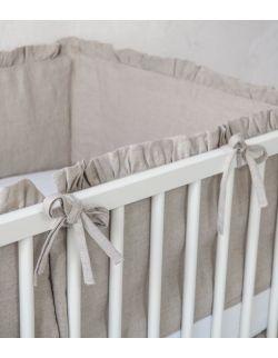lniany ochraniacz do łóżeczka 140 x 70 cm