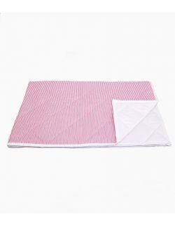 Narzuta w różowe paski średnia