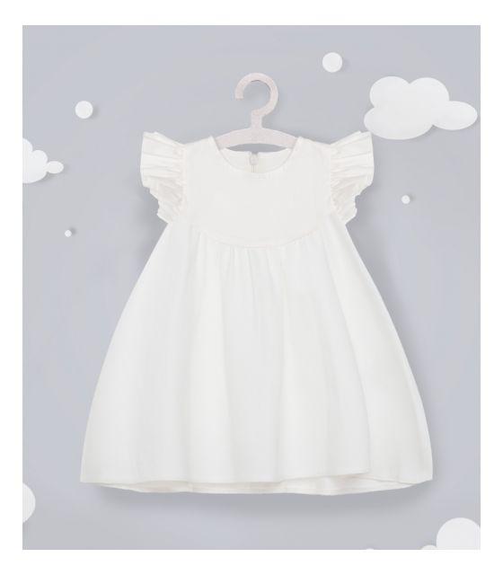 Sukienka do chrztu lub na co dzień Bawełniana Angel LITTLE BUNNY