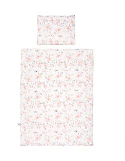 Poszewki na pościel kwiaty szara wypustka 135/100cm/40/60cm