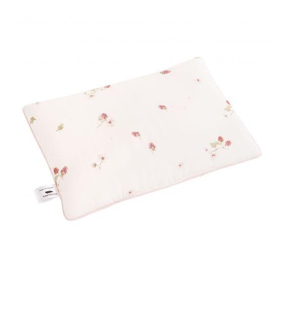 Bambusowa poduszka maliny 25x35 cm różowa wypustka