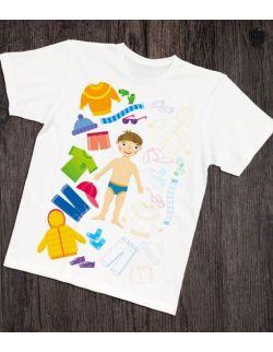 Koszulka interaktywna dla taty i malucha CIAŁO CZŁOWIEKA I UBRANIA