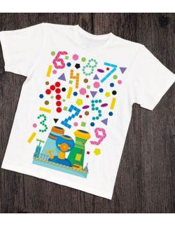 Koszulka interaktywna dla taty i malucha WYRZUTNIA KSZTAŁTÓW I KOLORÓW