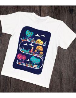 Koszulka interaktywna dla taty i malucha OWOCOWY SAD