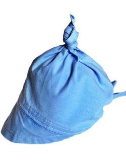 Chustka z daszkiem od 0-12 lat Niebieska