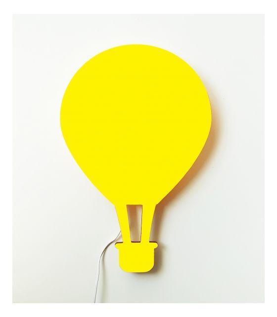 Drewniana lampka nocna - balon ALEX żółty