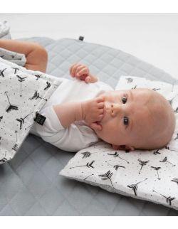 Starter niemowlęcy Wild: kokon + pościel + rożek