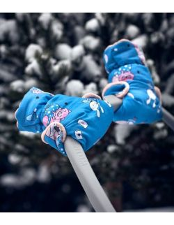 Mufki do wózka Alice in Wonderland Blue