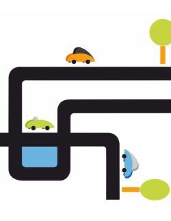 Samochody naklejka ścienna