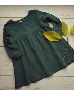 Zielona muślinowa sukienka
