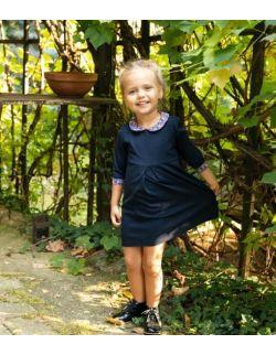 Sukienka Alicja dziecięca granat