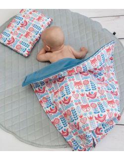 Starter niemowlęcy Scandi Velvet : kokon + pościel + rożek
