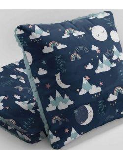 Kołdra 75x100cm + poduszka Księżyce