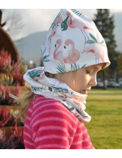 Czapka + komin Flamingi