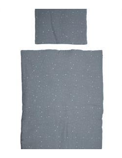 Pościel MUŚLIN Grey Stardust 75x100 cm