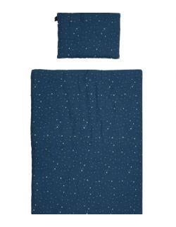Pościel MUŚLIN Blue Stardust 75x100 cm