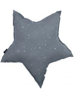 poduszka gwiazda muślinowa grey stardust