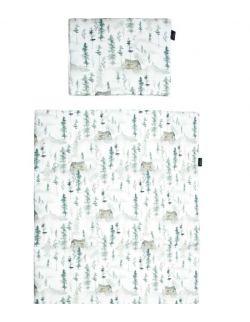 Pościel bawełna sosnowa wioska 100x140 cm