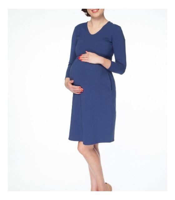 e59e6b68 Sukienka ciążowa i do karmienia Carry rękaw 7/8 granatowa milk & love
