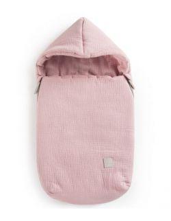 Śpiworek przejściowy muślinowy niemowlęcy Robin Chudek brudny róż