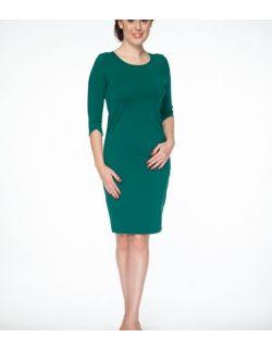 Sukienka do karmienia Milky Dress rękaw 3/4 butelkowa zieleń
