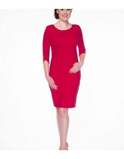 Sukienka do karmienia Milky Dress rękaw 3/4 karminowa czerwień