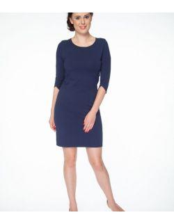Sukienka krótka do karmienia Milky Dress rękaw 3/4 granatowa