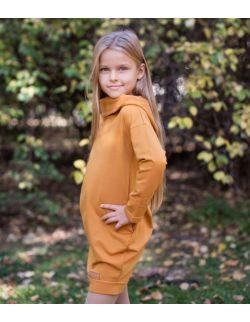 Dresowa sukienka typu tunika dla dziewczynki