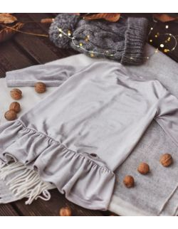 Sukienka PULSI srebrna