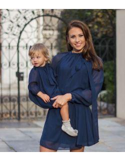 Sukienka POSINI granatowa dla mamy