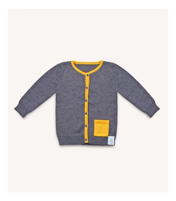 Sweter dziecięcy z wełny merino szary
