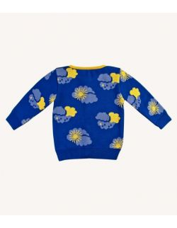 Sweter dziecięcy z wełny merino w chmurki