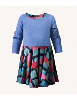 Dzianinowa sukienka dziecięca pinkumo z wełny merino