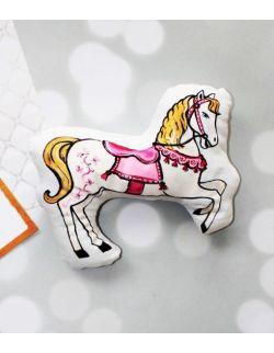 przytulanka konik z karuzeli rózowy konik słodkie dekoracje do pokoju dziewczynki prezent baby shower dla dziecka