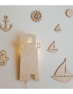 Drewniana lampka nocna - Latarnia morska