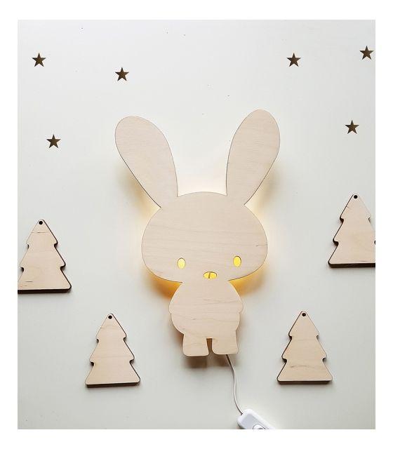 Ścienna nocna lampka LED - Królik Timmy