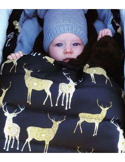 Śpiworek zimowy niemowlęcy Sarny (0-12mcy)