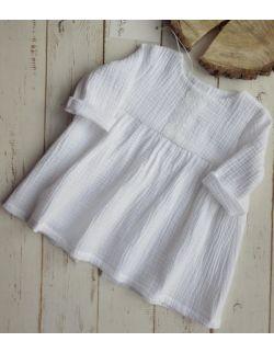 Biała muślinowa sukienka