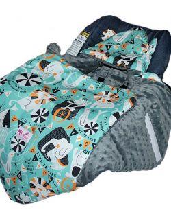 Śpiworek/ Kocyk do fotelika Cyrk& grey dots