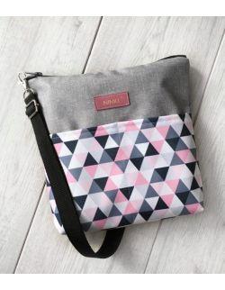 wodoodporna torebka dla dziewczynki Ninki® (różowe trójkąty)